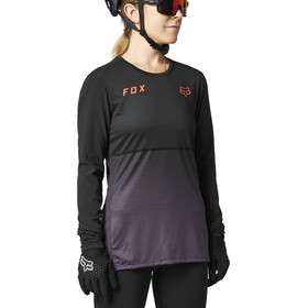 Fox Flexair LS Jersey Women, black/purple